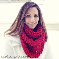 Crochet Infinity Scarf Free Tutorial ~ Pakbit for
