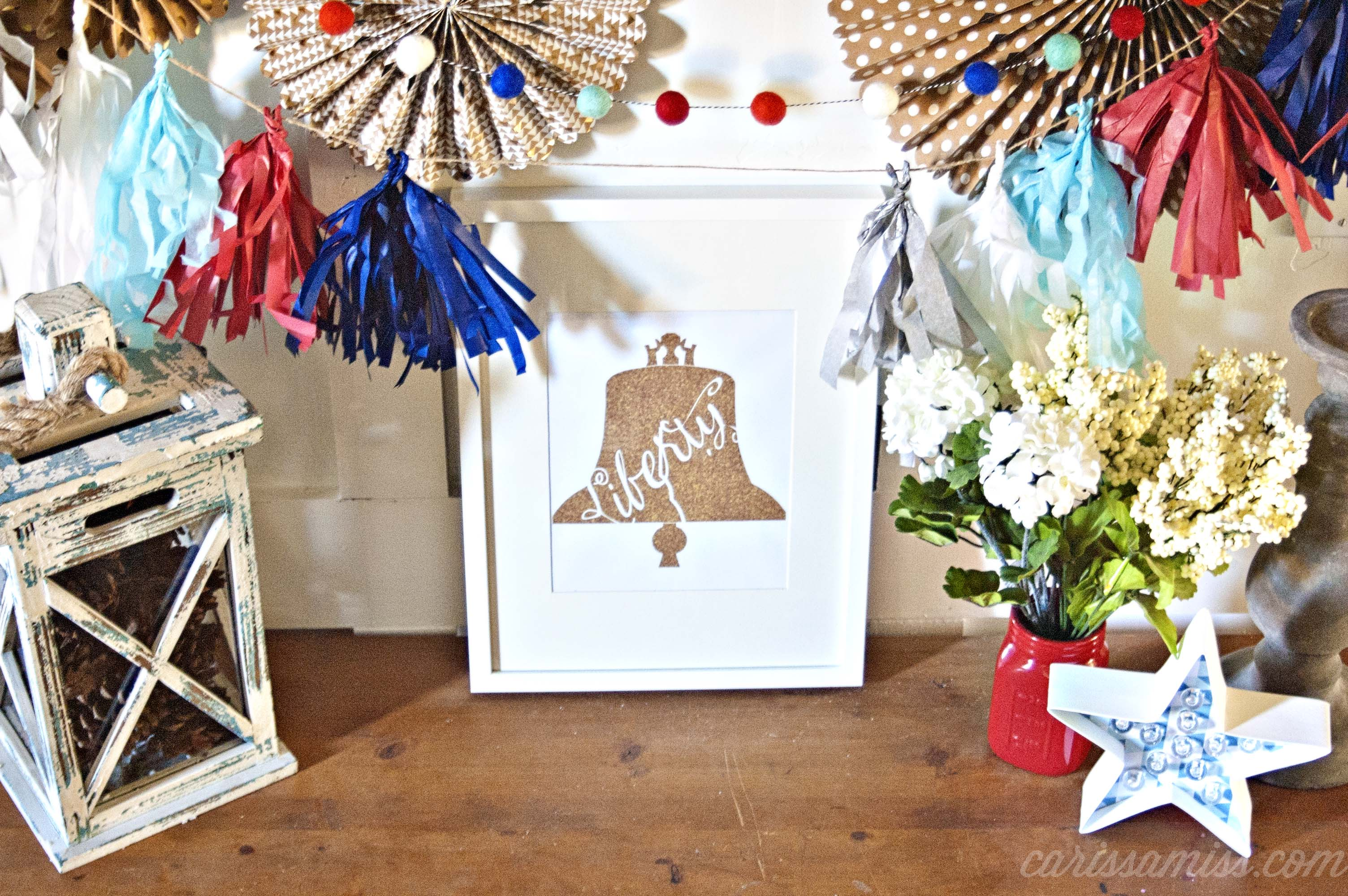 Gold Liberty Bell Free Printable
