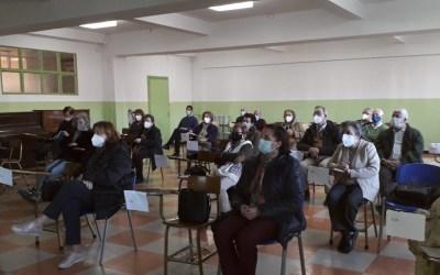 Sesión de formación en Cáritas Vega