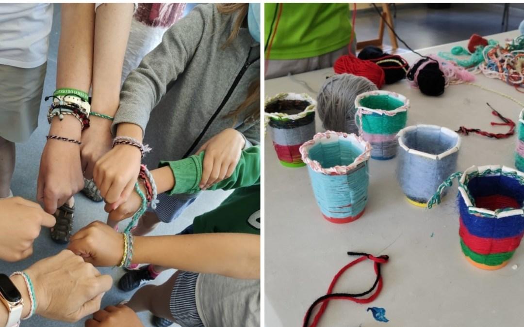 Voluntarios y niños de Ibeas organizan una recogida de alimentos