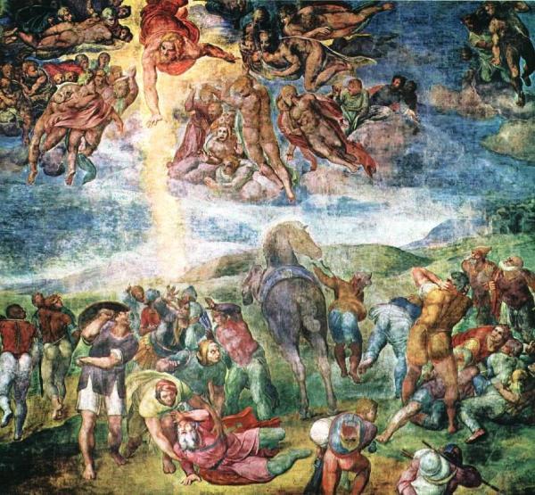 A conversão de São Paulo, por Michelangelo (1542).