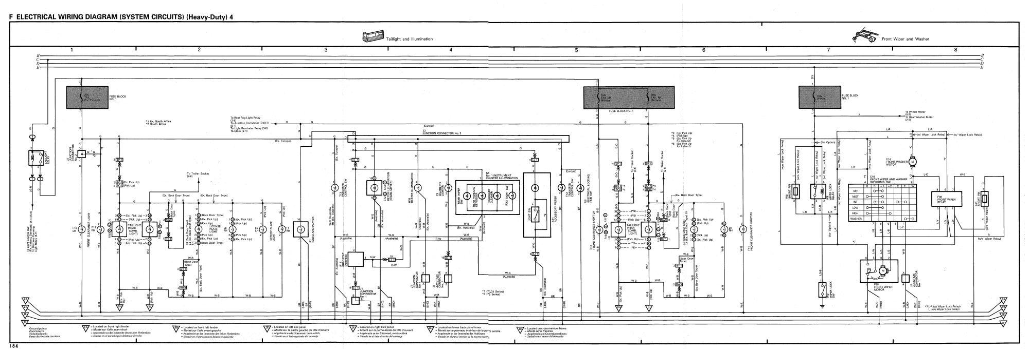 hight resolution of toyota land cruiser 1990 1998 wiring diagram heavy duty 4
