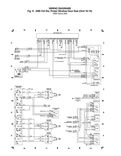 small resolution of volvo 240 1993 wiring diagrams abs crtl sw power window door volvo 240