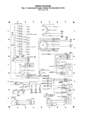 Volvo 240 (1993)  wiring diagrams  instrument cluster