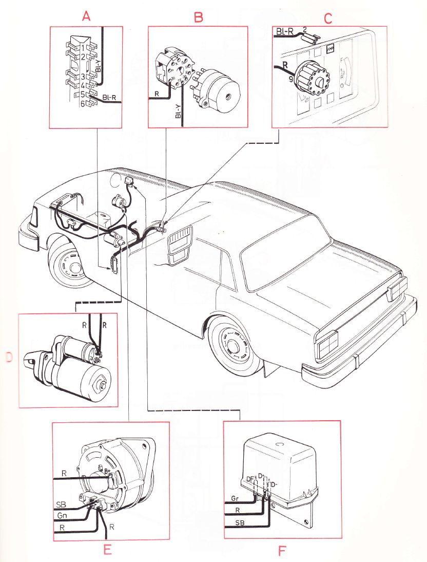 hight resolution of volvo 240 1975 wiring diagrams main wiring harness