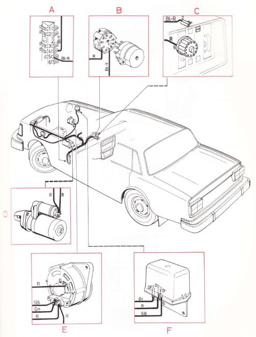 small resolution of volvo 240 1975 wiring diagrams main wiring harness