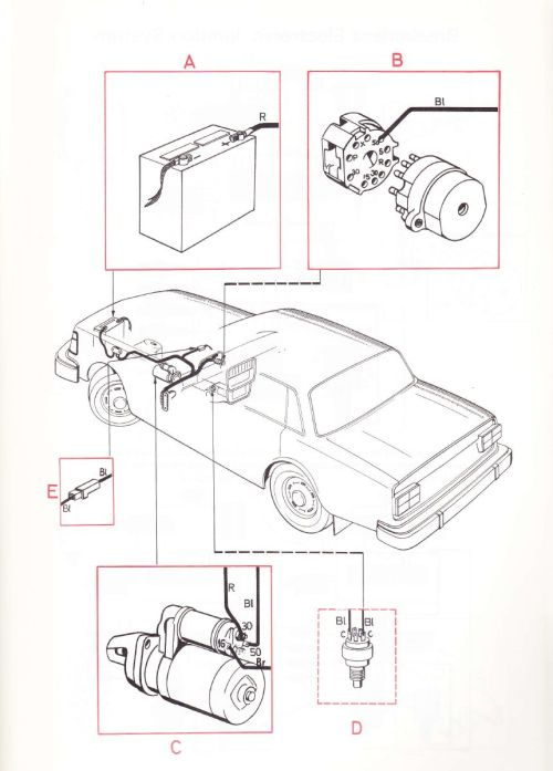 small resolution of volvo 240 1975 wiring diagrams starting circuits