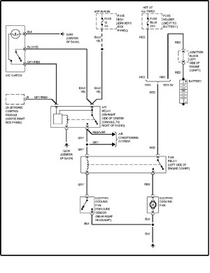 Volvo 240 (1991  1993)  wiring diagrams  cooling fan