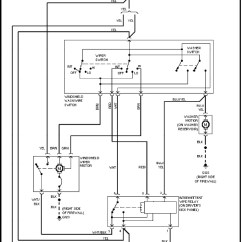 1993 Volvo 240 Wiring Diagrams Textron Ez Go Golf Cart Diagram (1991 - 1993) Front Washer/wiper Circuit Carknowledge