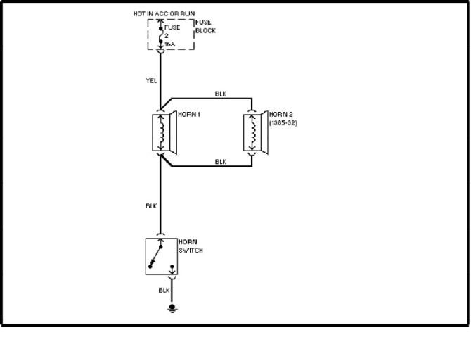 volvo 240 1991  1993  wiring diagrams  horn circuit