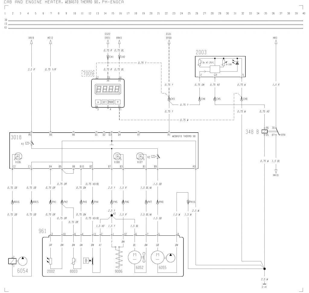 hight resolution of volvo f12 f16 wiring diagram cab and engine heater webasto rh carknowledge info bmw e39 webasto