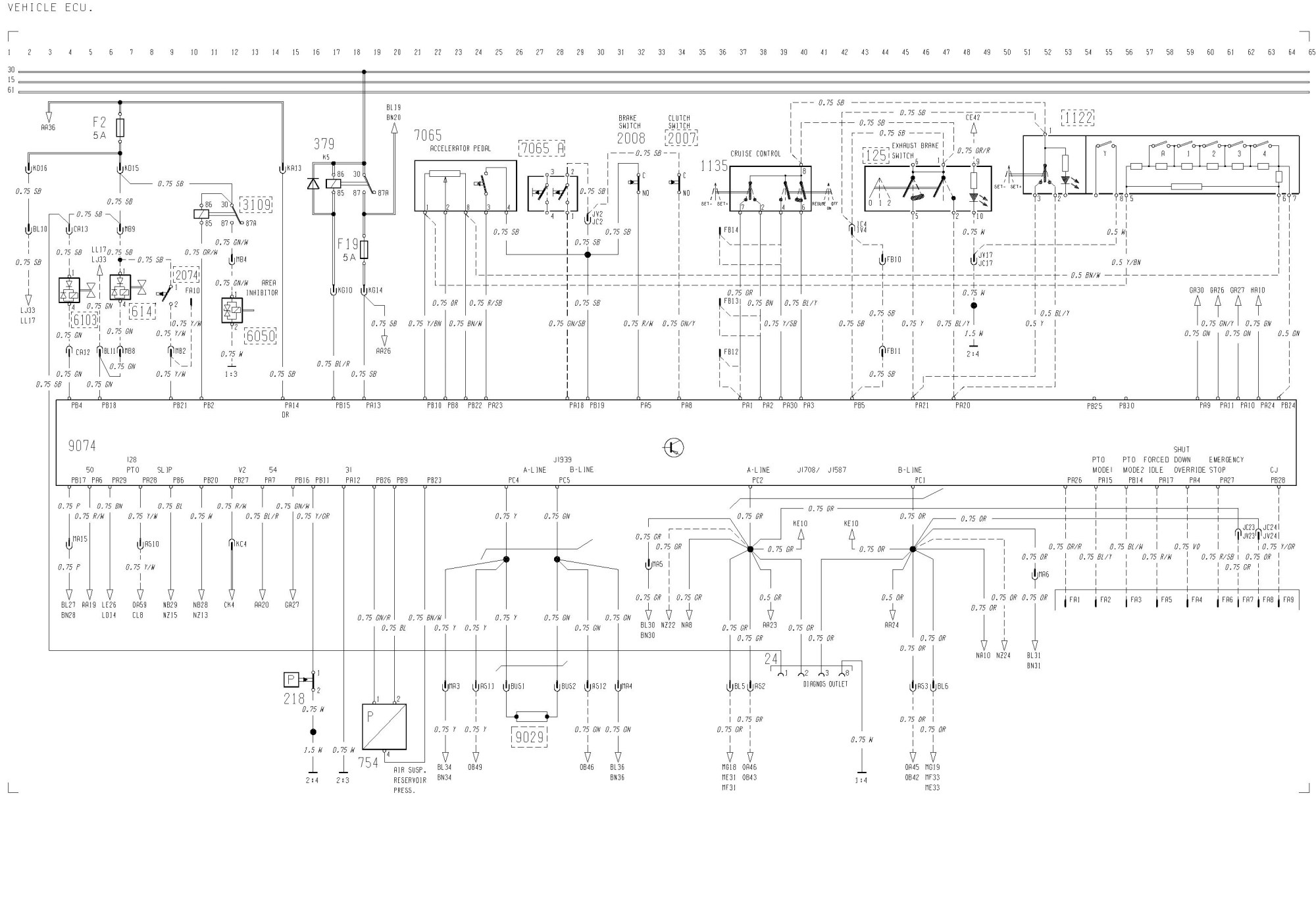 hight resolution of volvo fh12 fh16 lhd wiring diagrams vehicle ecu