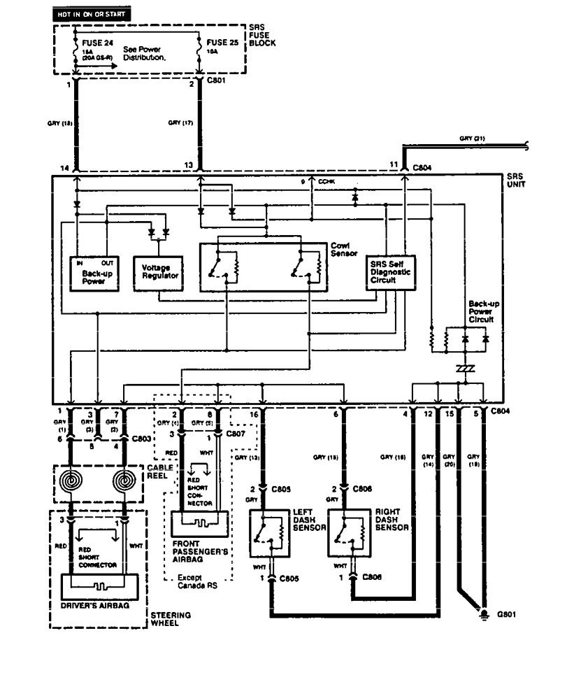 hight resolution of acura integra 1994 wiring diagrams air bags