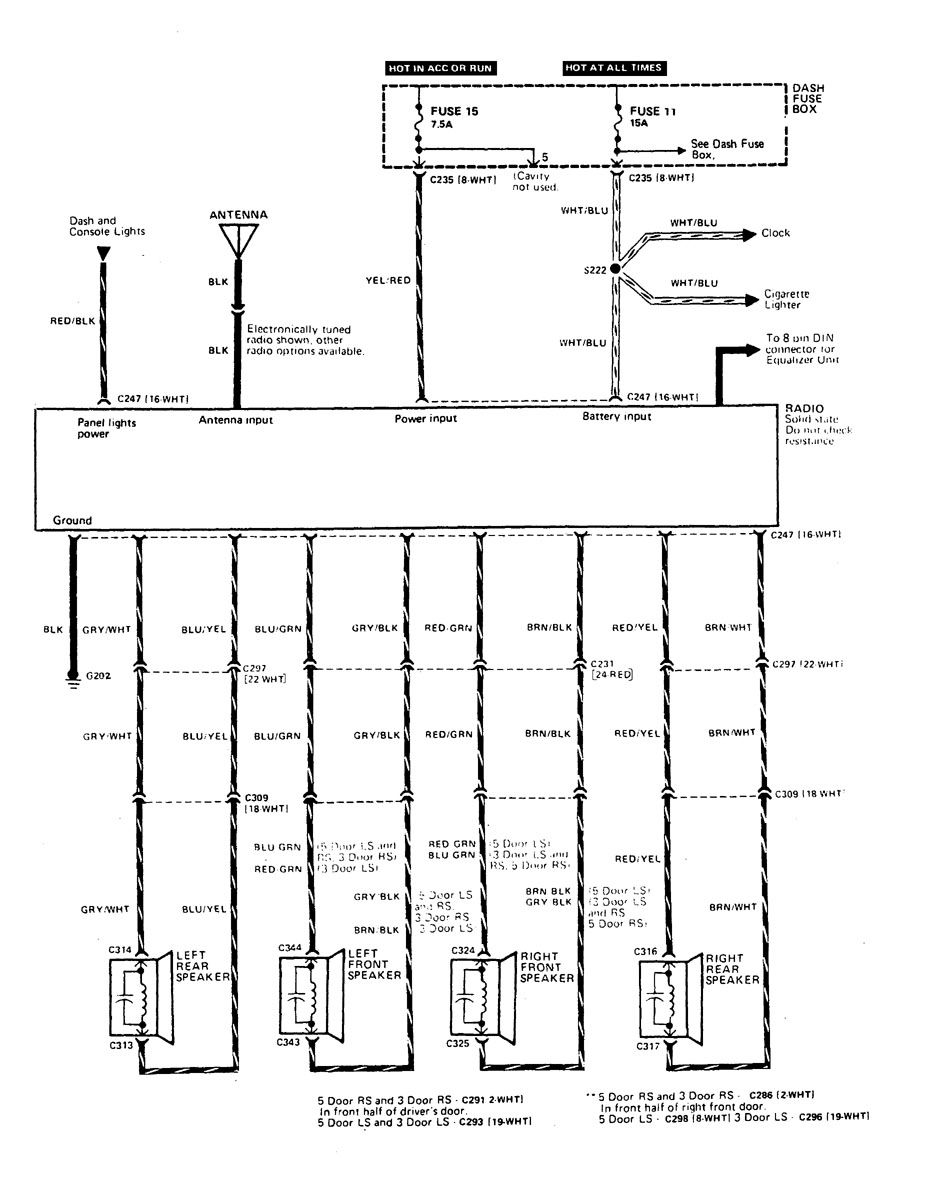 [DIAGRAM] 1995 Acura Integra Wiring Diagram FULL Version