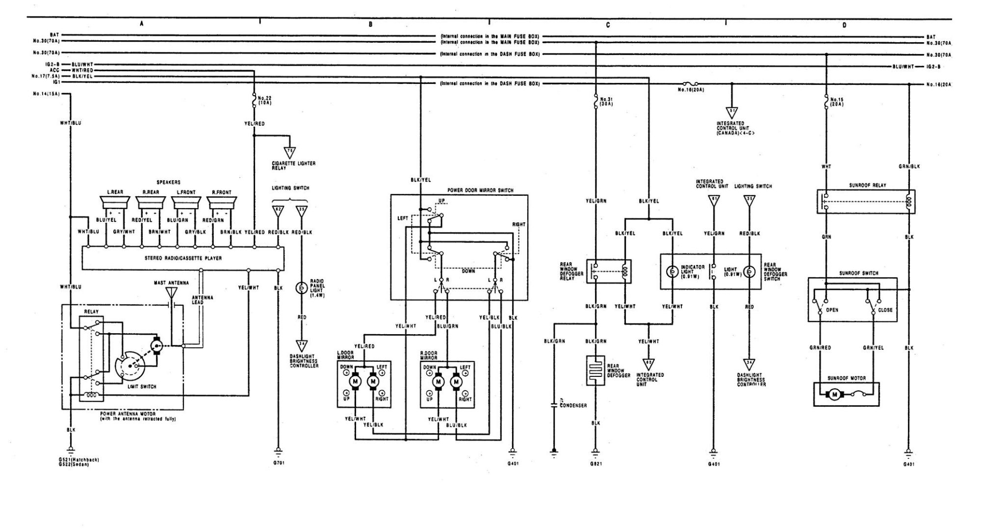 hight resolution of acura integra wiring diagram audio system