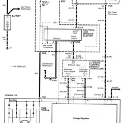 Car Charging System Wiring Diagram Wan Network Topology For Acura Integra 1998 2001 Diagrams