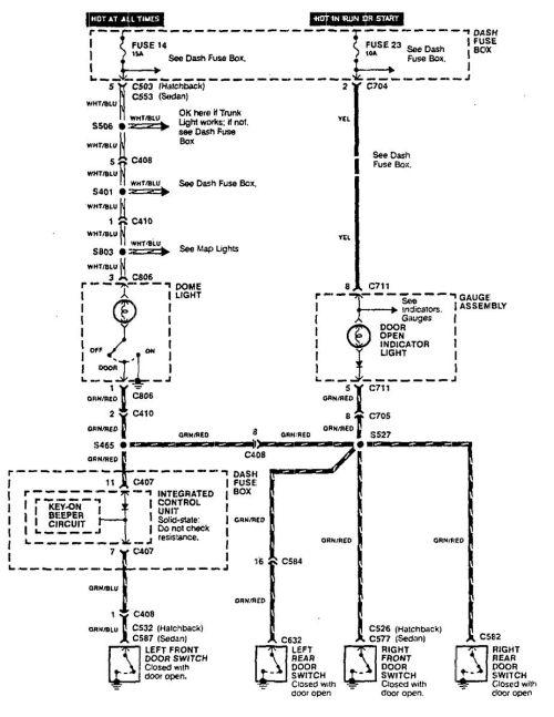 small resolution of acura integra wiring diagram door lamp