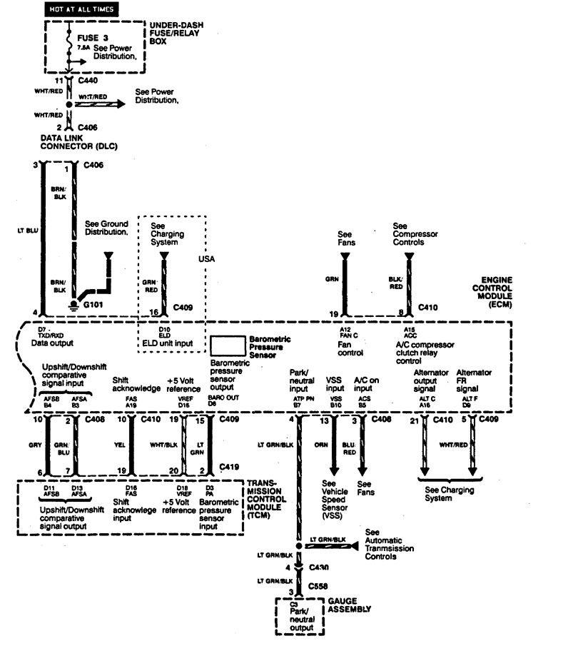Wiring Diagram 1994 Acura Integra