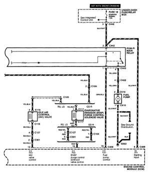 Acura Integra (1998 – 1999) – wiring diagrams – fuel pump