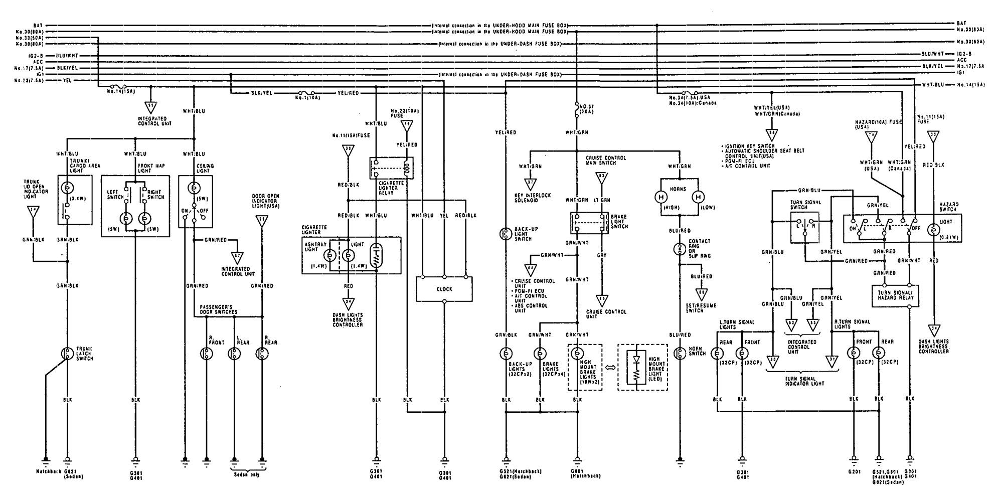 1993 acura integra wiring harness