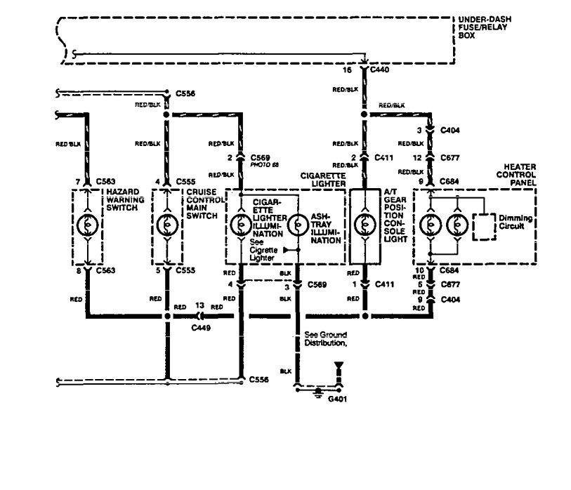 1994 Acura Integra Fuse Panel. Acura. Auto Fuse Box Diagram