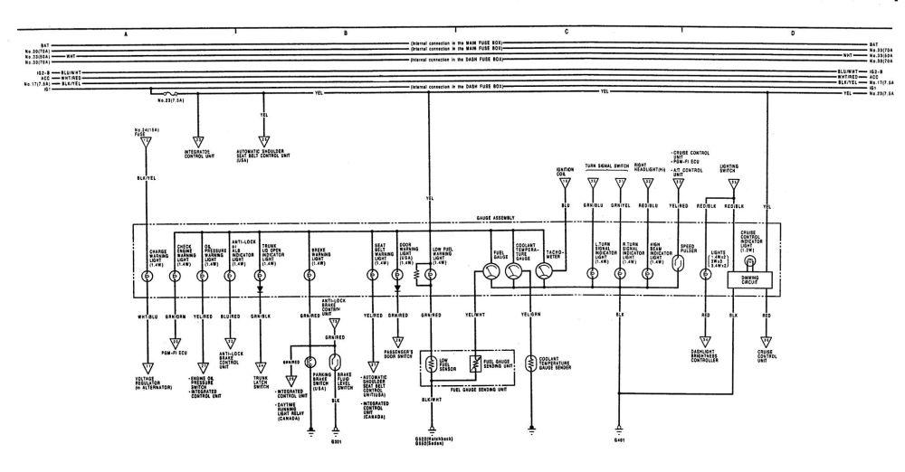 medium resolution of 90 acura integra engine wiring diagram 90 dodge dakota 1992 acura integra headlight wiring diagram 1992