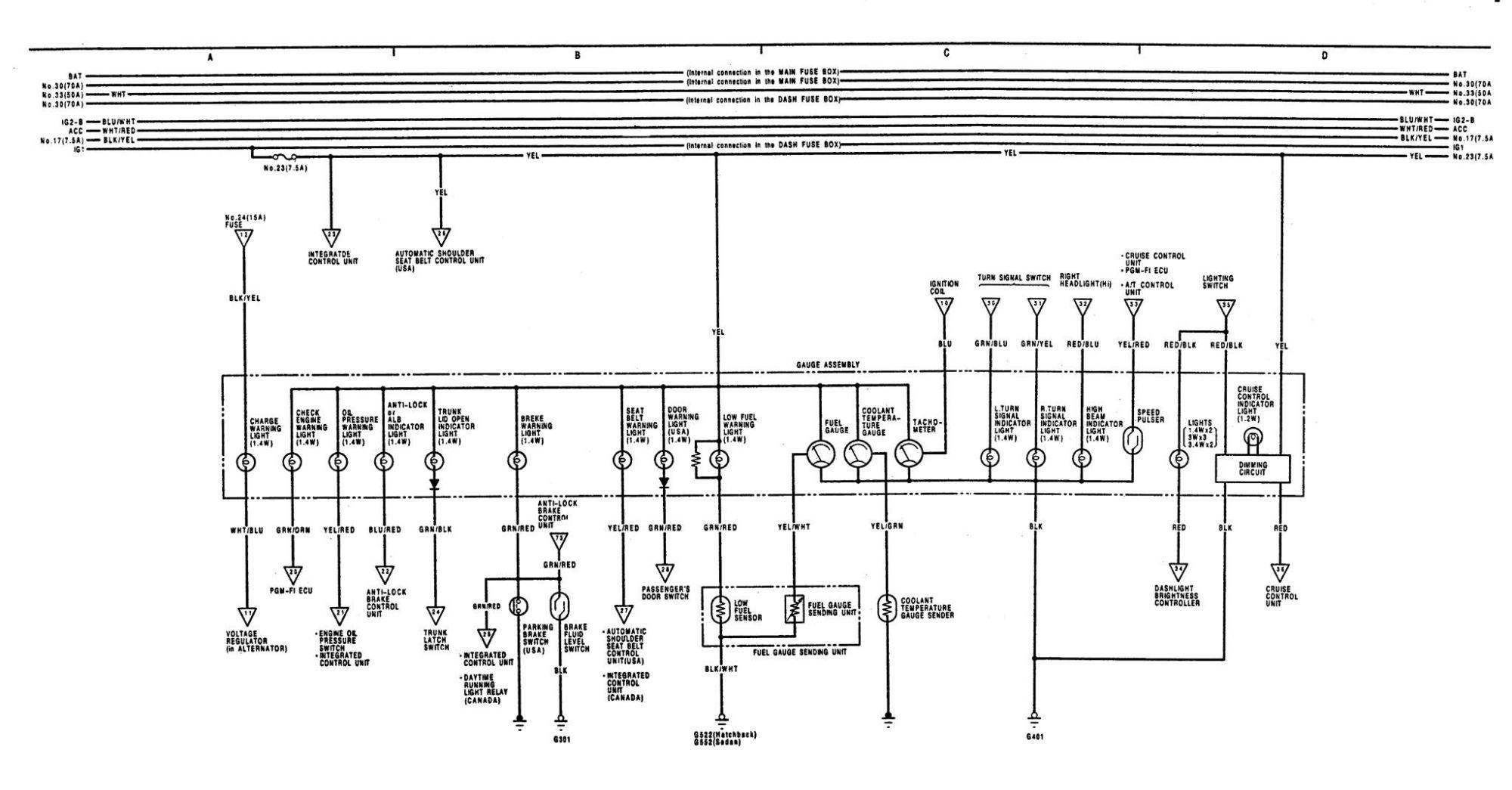 hight resolution of 90 acura integra engine wiring diagram 90 dodge dakota 1992 acura integra headlight wiring diagram 1992