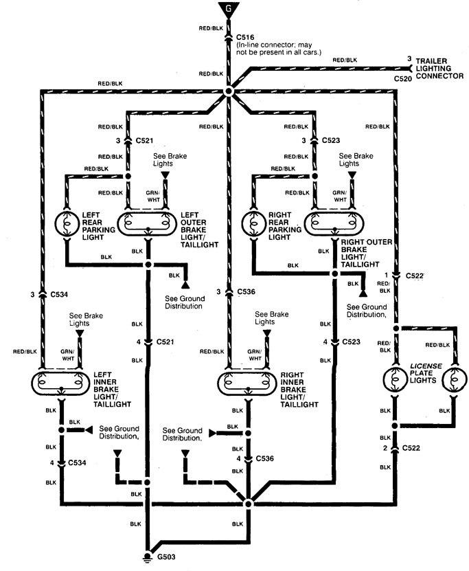 1995 Acura Integra Wiring Diagram Lighting