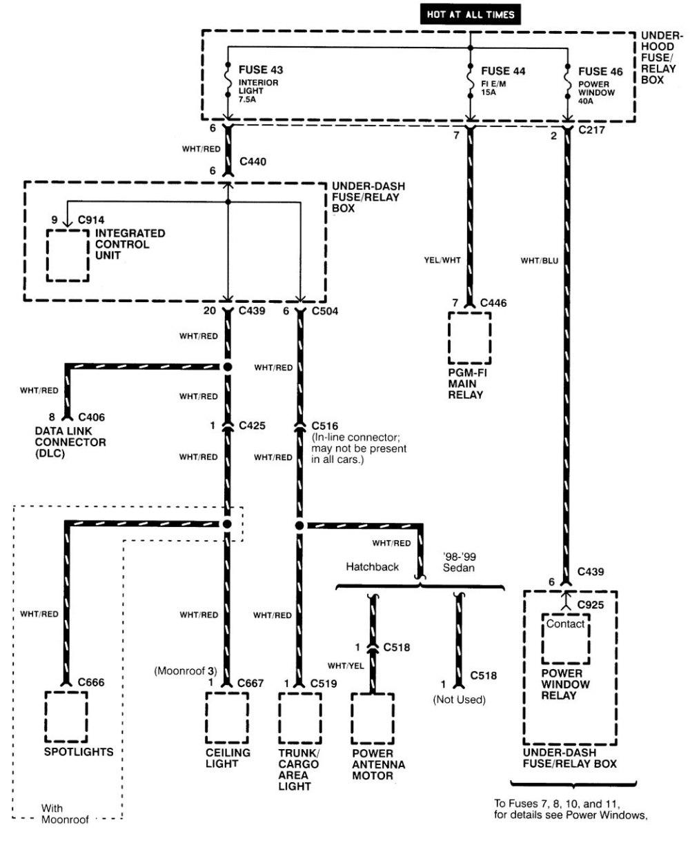 medium resolution of  acura integra wiring diagram power distribution part 8