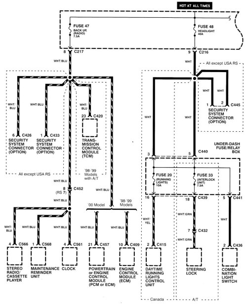 on 00 acura integra wiring diagram