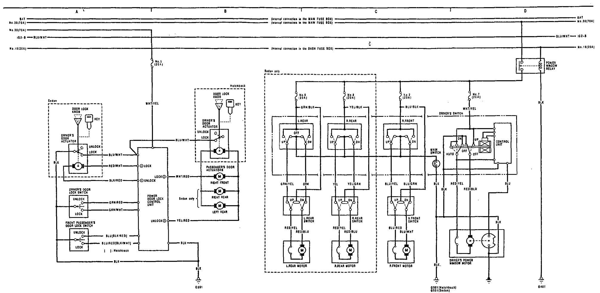 1996 acura integra speaker wiring diagram spaceship cutaway 1991 diagrams power windows