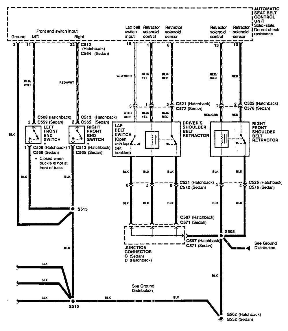 hight resolution of acura integra wiring diagram seat belt acura integra 1990