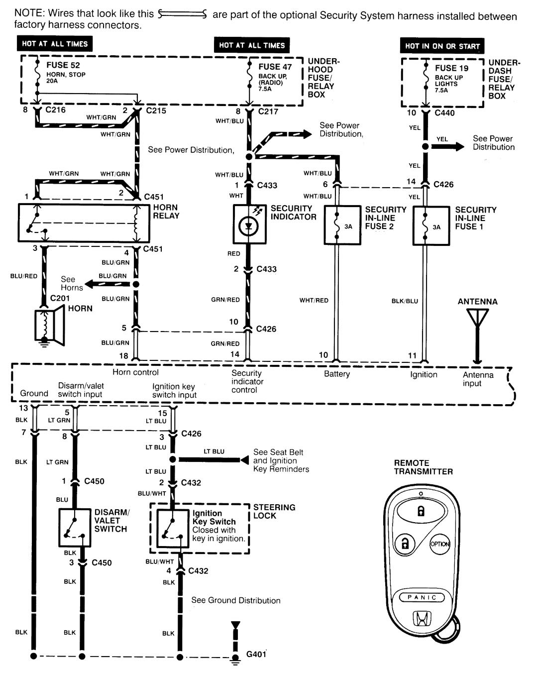 95 Acura Integra Ignition Switch Wiring Diagram Diagrams