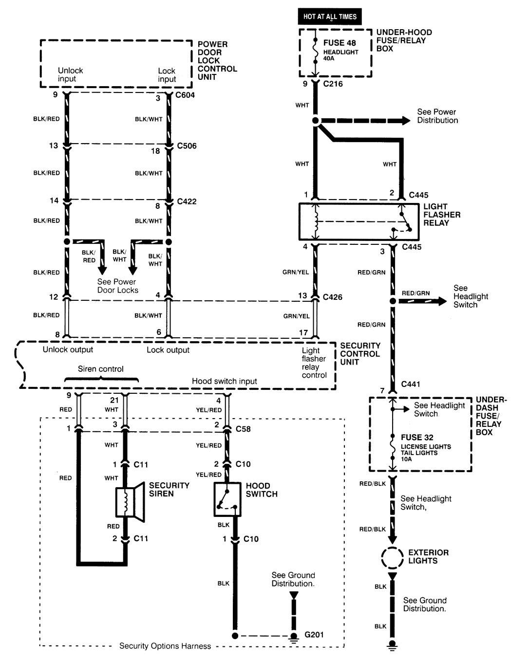 1995 acura integra alarm wiring diagram three way switch multiple lights 2000 2001 diagrams security