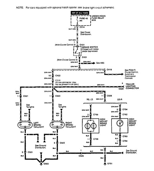 small resolution of 1995 acura integra wiring diagram lighting