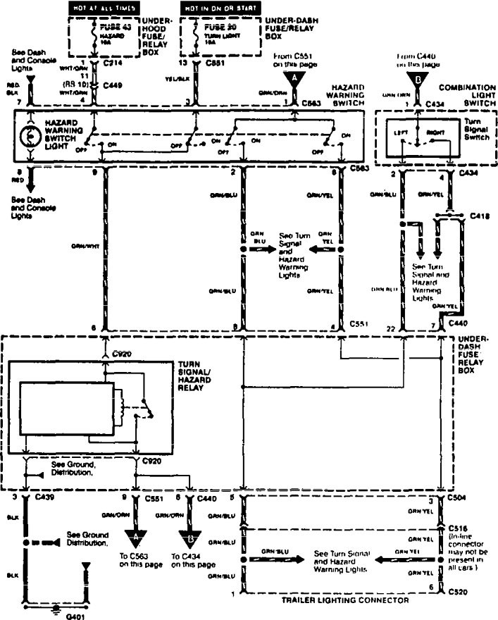 Acura Integra (1996) – wiring diagrams
