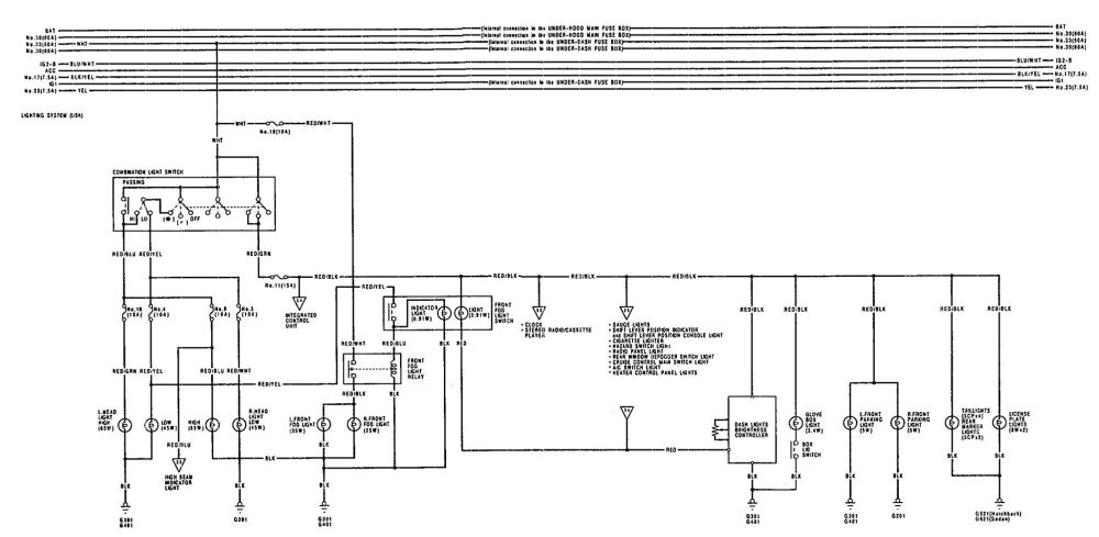 medium resolution of acura integra 1992 wiring diagrams turn signal lamp carknowledge 1992 acura integra radio wiring diagram 1992