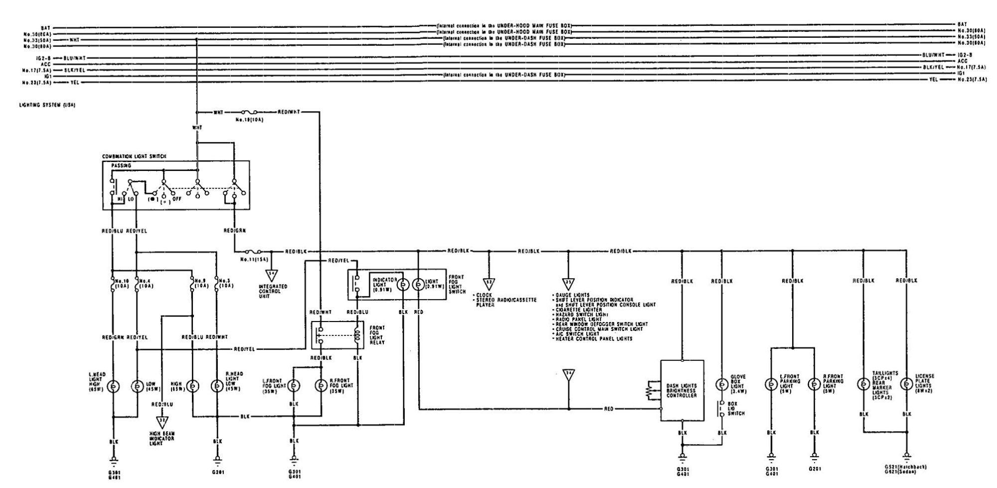 hight resolution of acura integra 1992 wiring diagrams turn signal lamp carknowledge 1992 acura integra radio wiring diagram 1992
