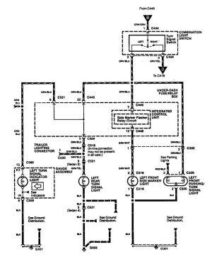 Acura Integra (1994)  wiring diagrams  turn signal lamp