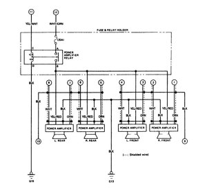 Acura Legend (1988)  wiring diagram  audio  CARKNOWLEDGE