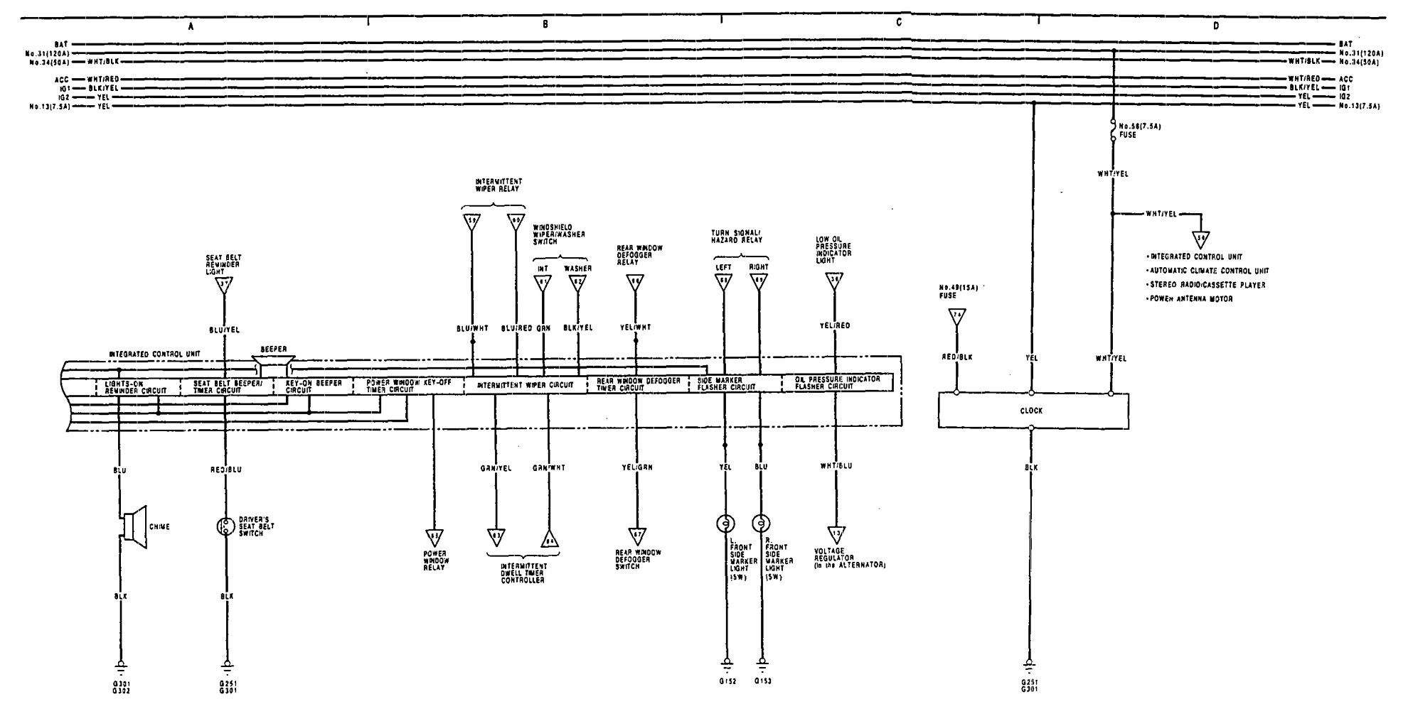 94 acura legend stereo wiring diagram rb25det ecu 1991 1992 driver
