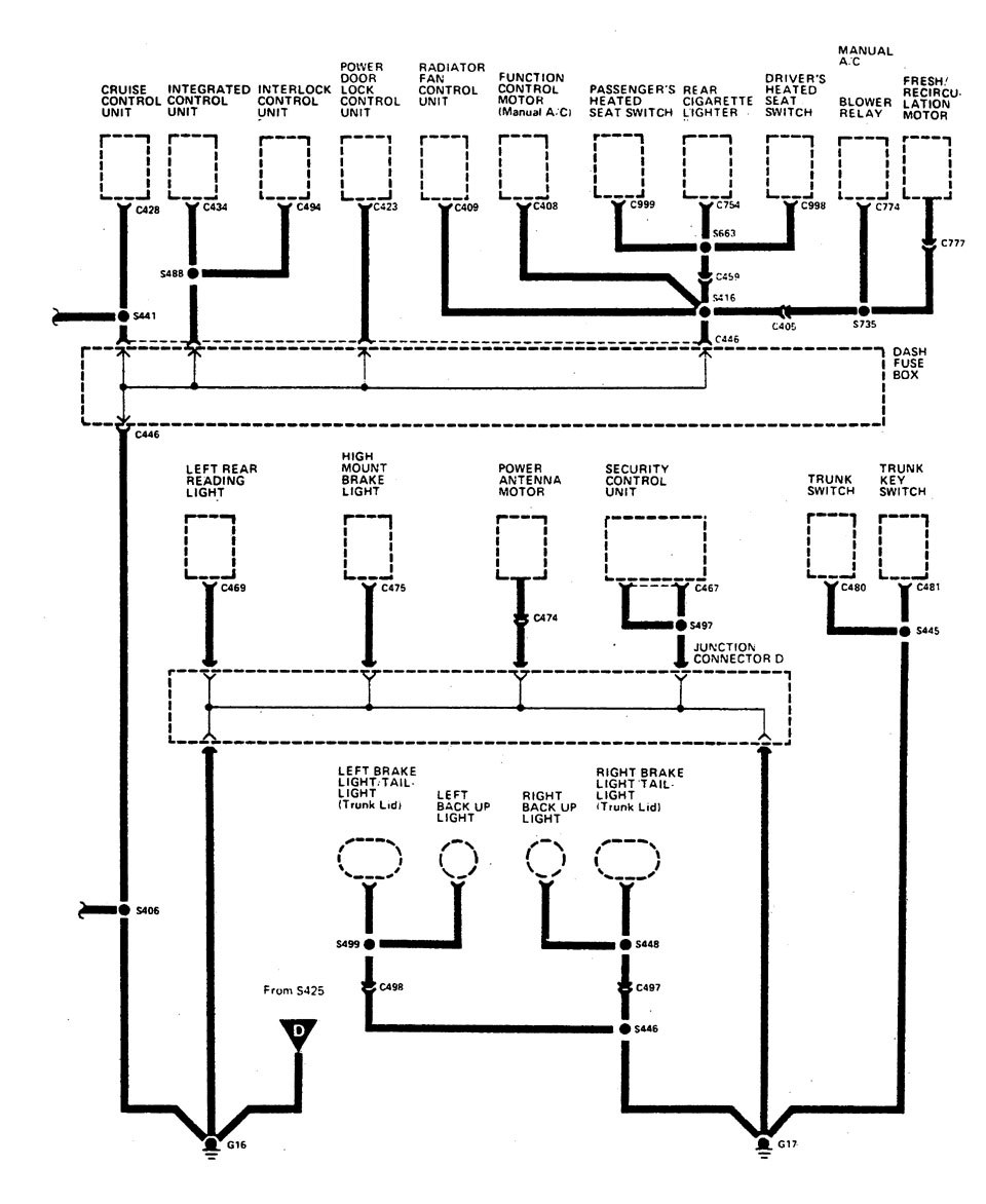hight resolution of acura legend wiring diagram ground distribution part 10 acura legend 1990