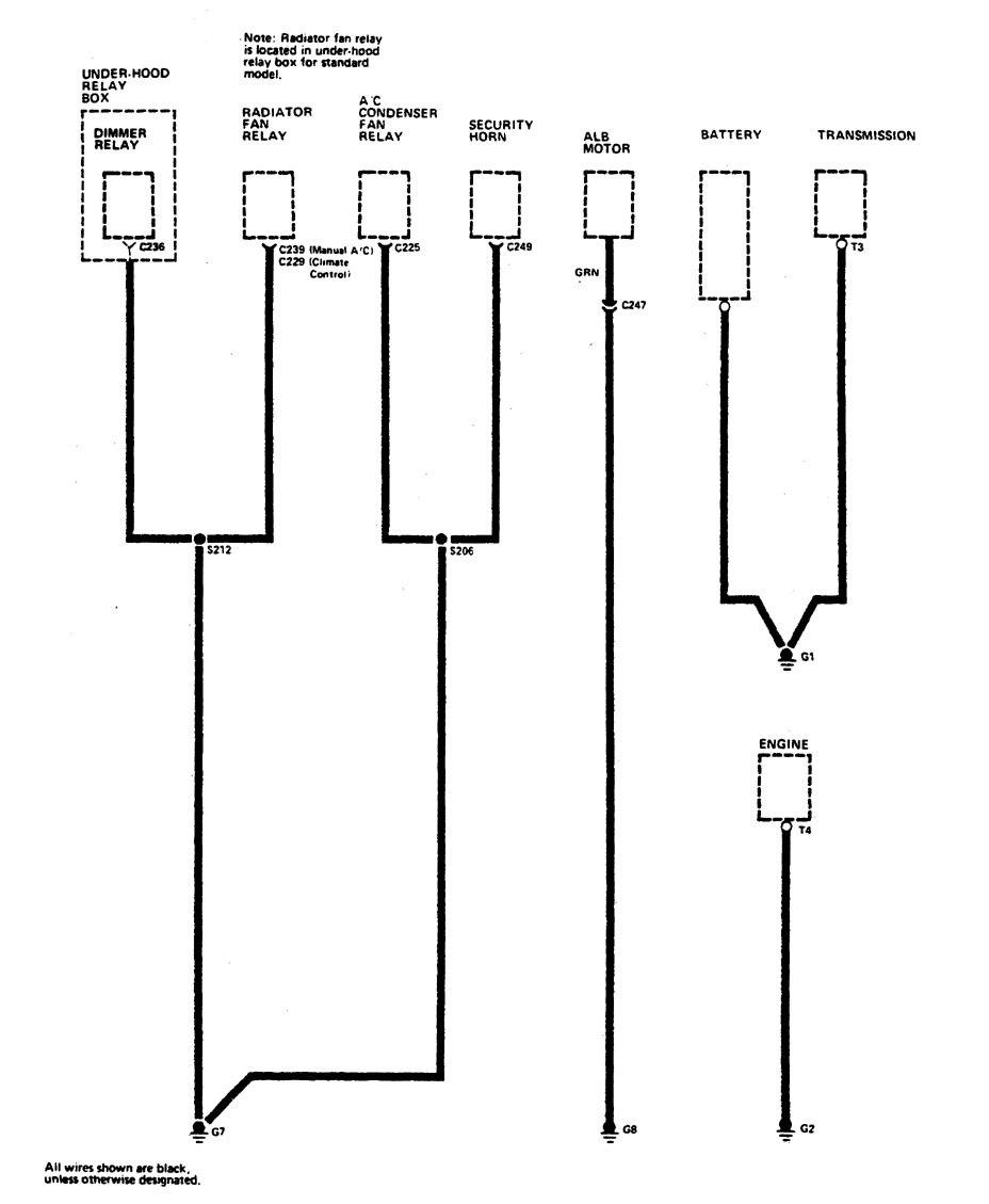 hight resolution of acura legend u2013 wiring diagram u2013 ground distribution part