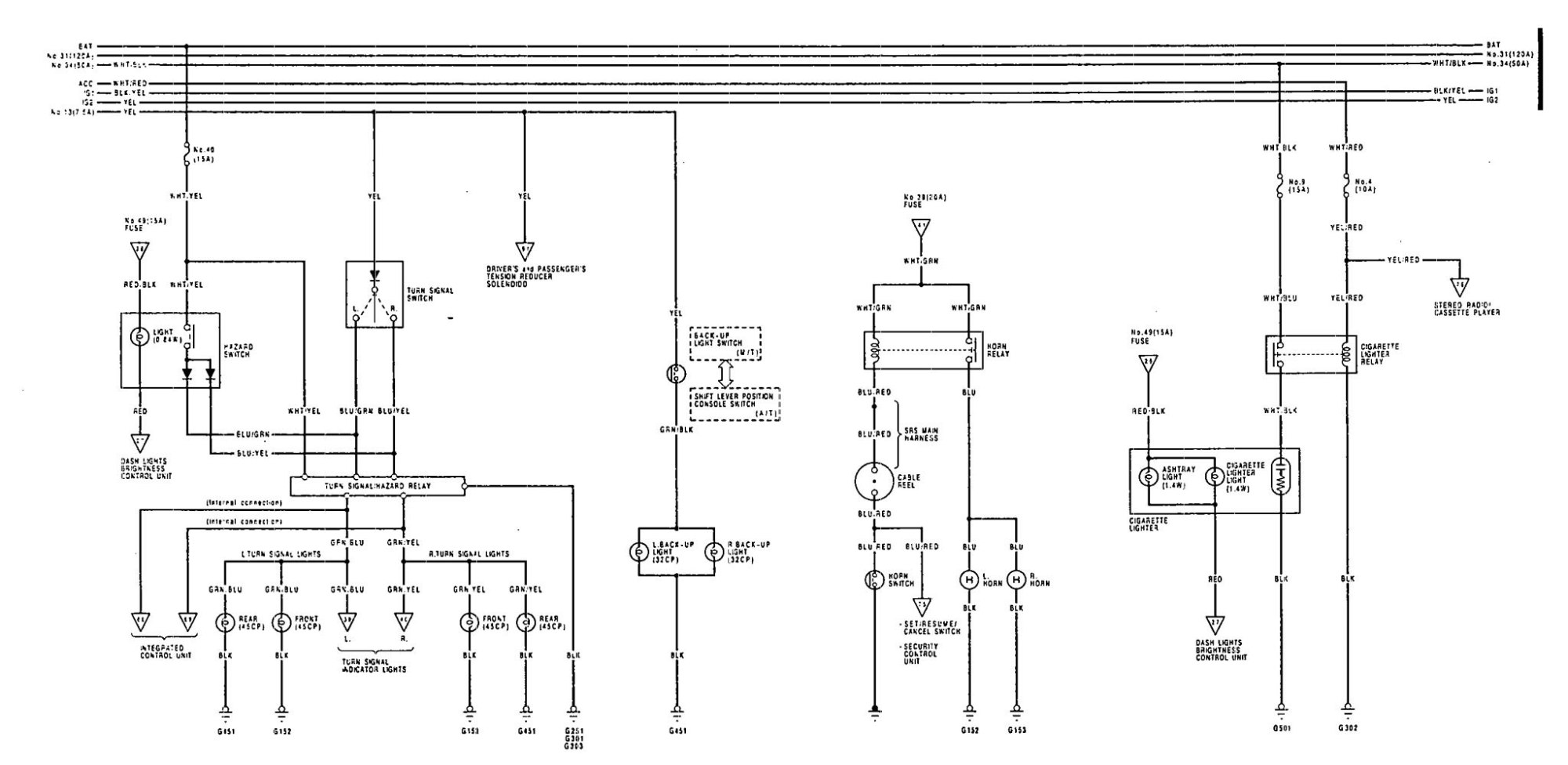 hight resolution of acura legend wiring diagram horn
