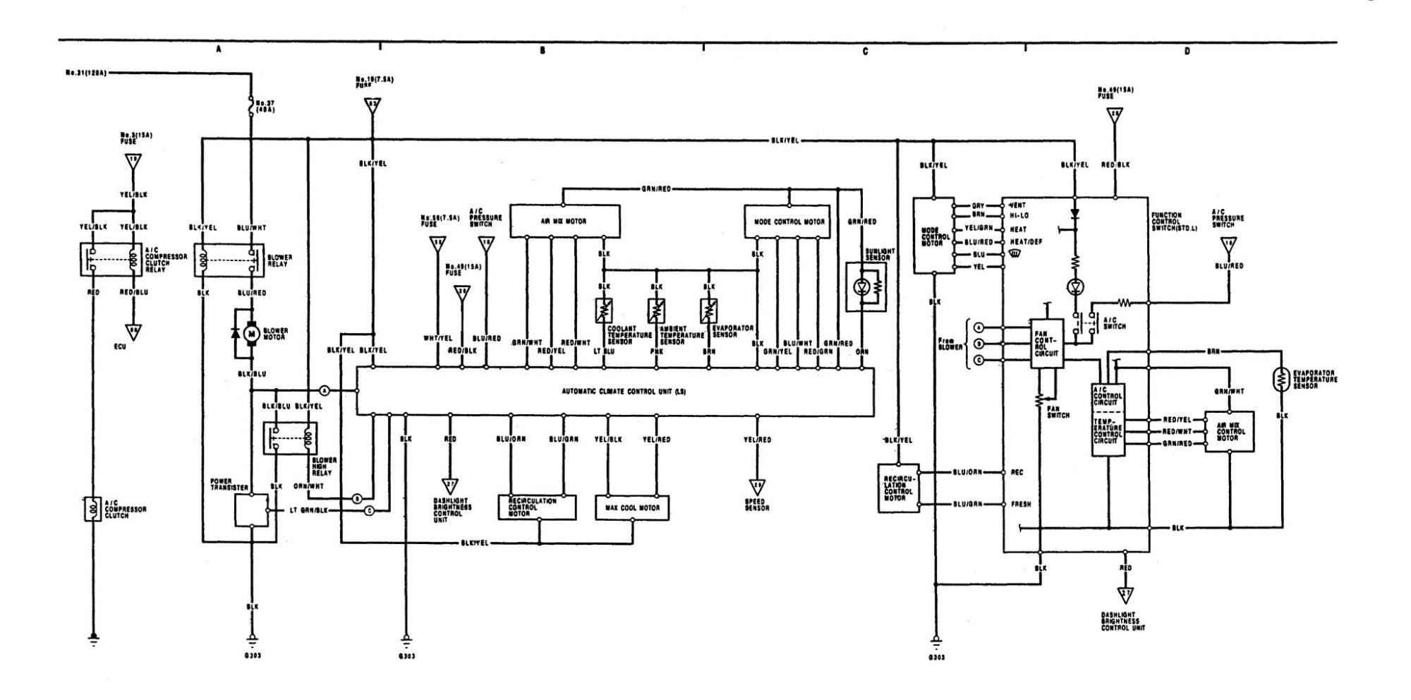 hight resolution of acura legend 1991 wiring diagram hvac controls basic electronic schematic symbol legend wiring diagram symbol legend