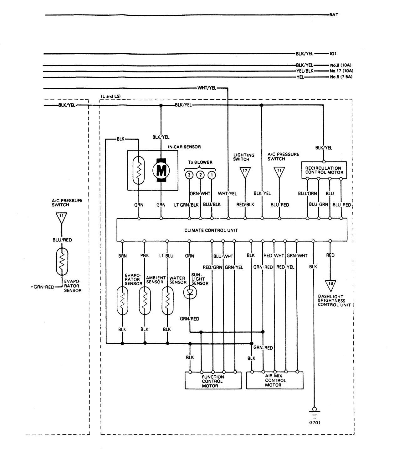 94 acura legend stereo wiring diagram simplicity 4211 1989 hvac controls
