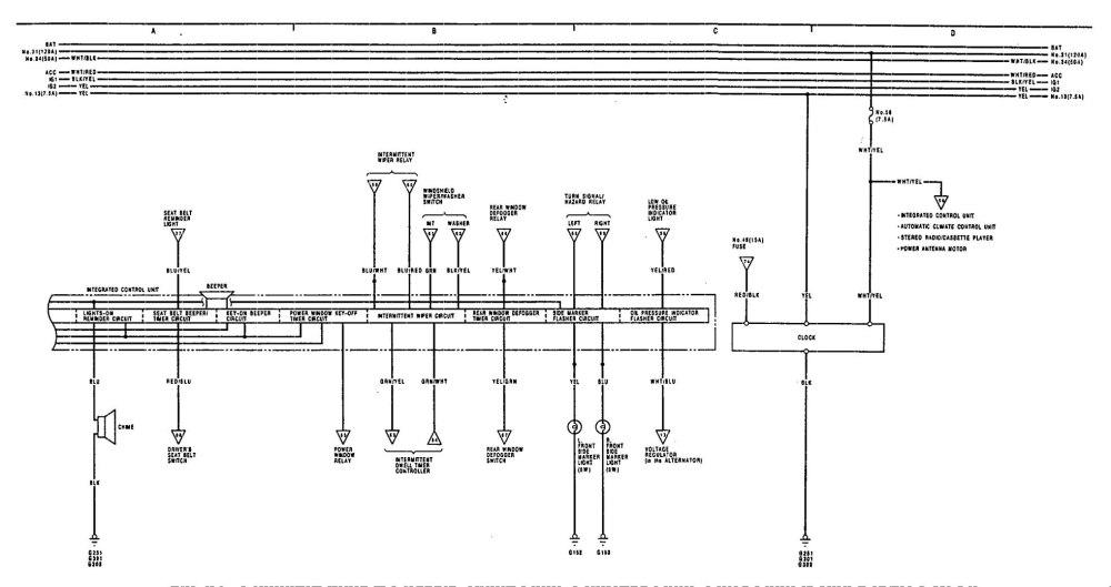 medium resolution of acura legend 1991 1992 wiring diagram illuminated basic electronic schematic symbol legend electrical legend