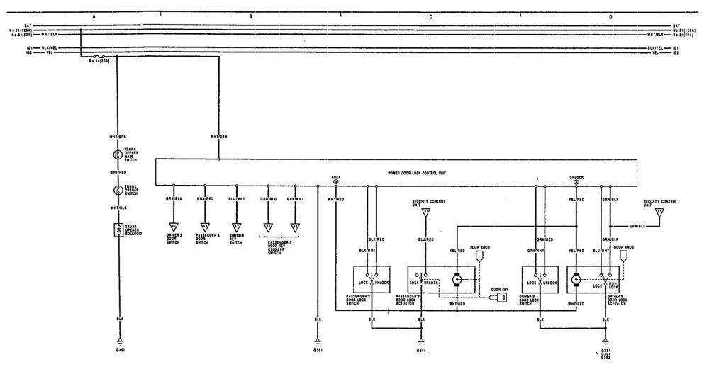 medium resolution of acura legend u2013 wiring diagram u2013 power locks