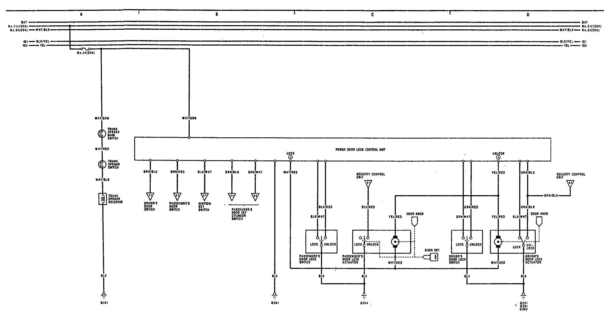 hight resolution of acura legend u2013 wiring diagram u2013 power locks