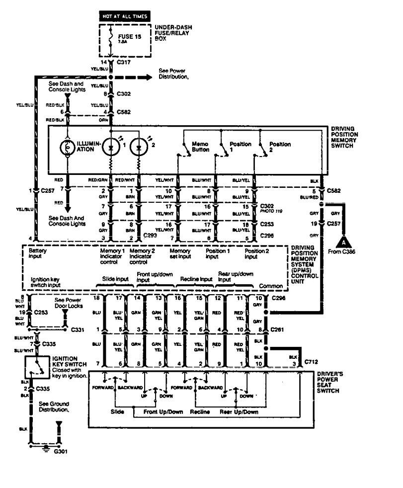 Acura legend wiring diagram steering column part 2
